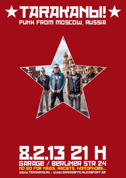 Flyer-Tarakany!2013